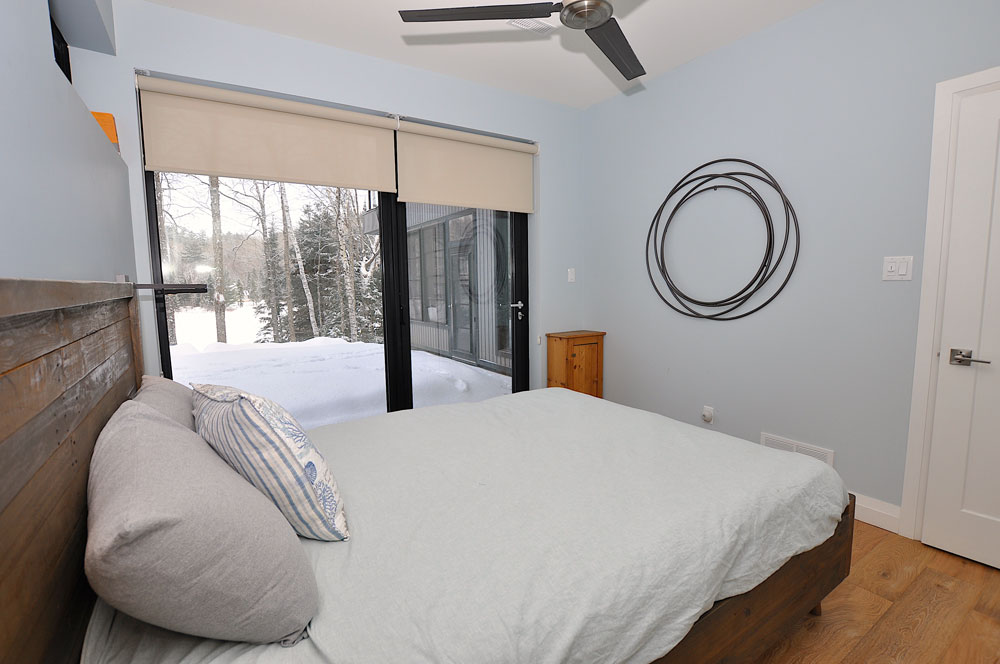 Haliburton Cottage - Growler Lake - Bedroom-2-view-of-walk-out