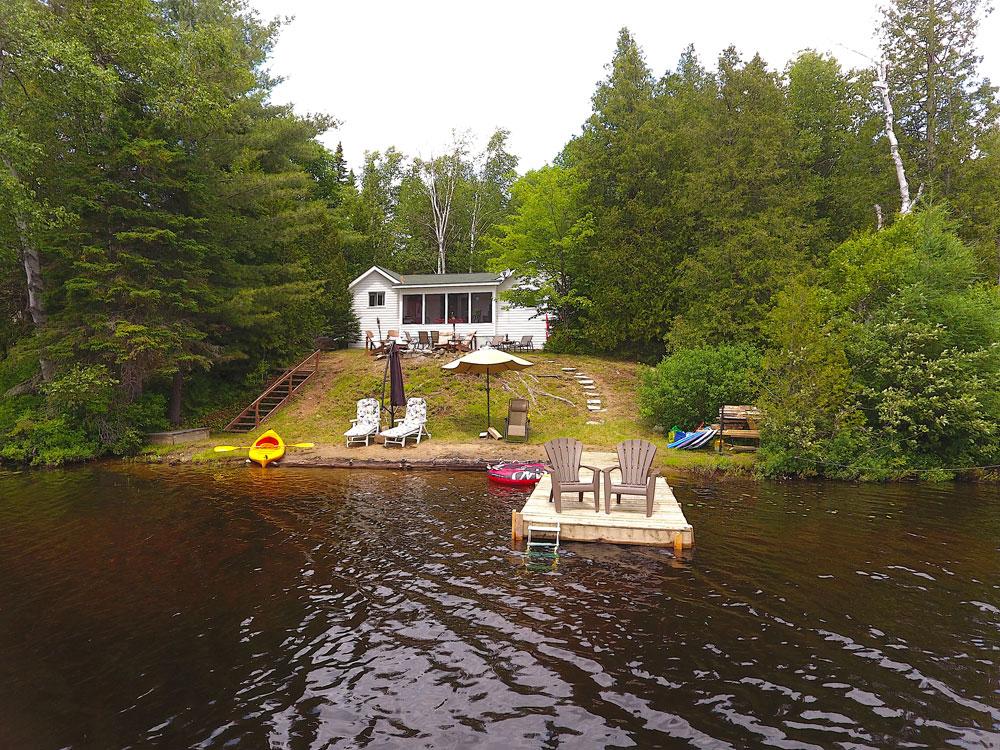 Graphite Lake Pine Reflection   Bancroft Cottage   Cottage