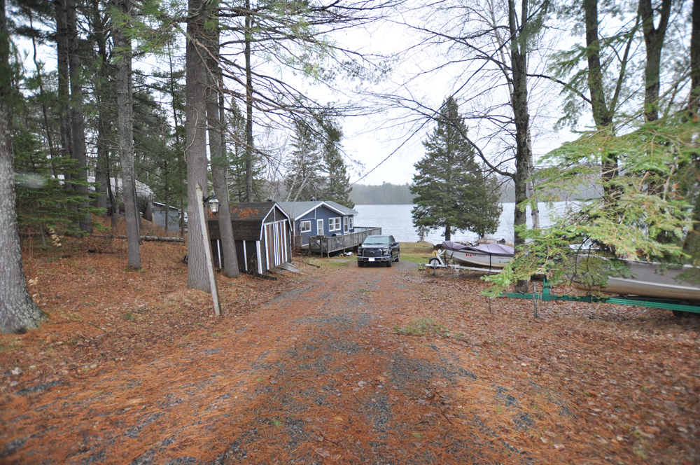 17 Baptiste Lake - Golden Shores - view from the upper parking area