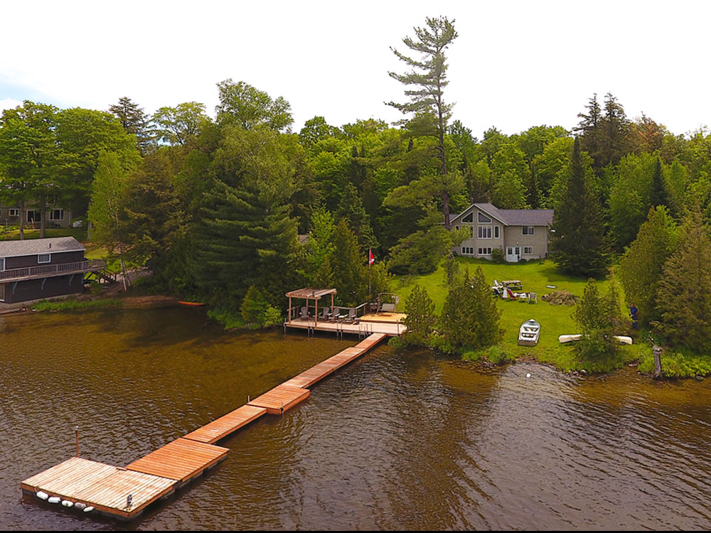 Haliburton Cottage - Beech Lake - Sunset Retreat - Aerial View