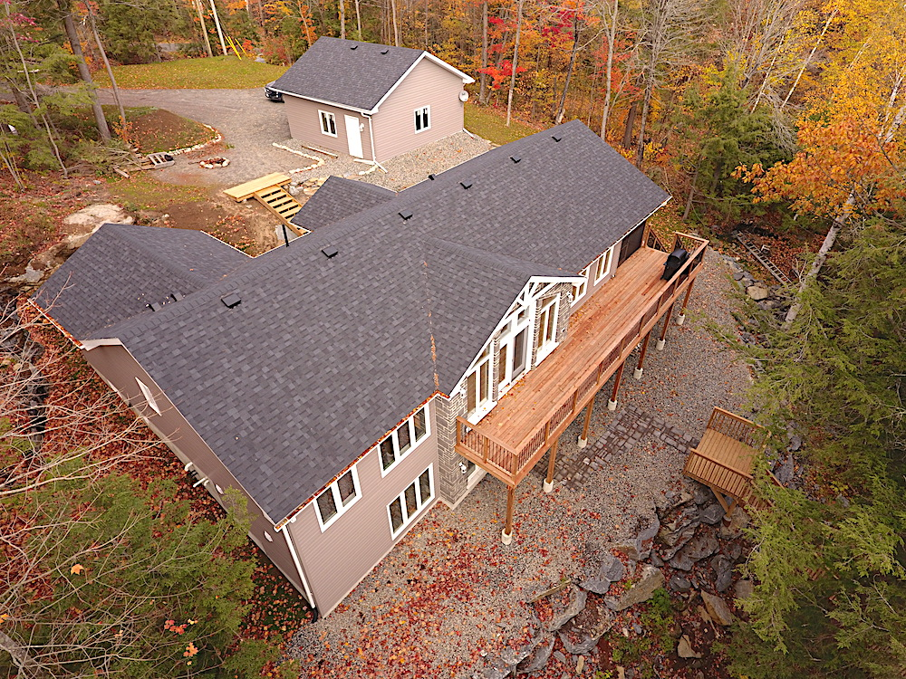 Haliburton Cottage Kennisis Lake Evergreen Terrace - Cottage from above