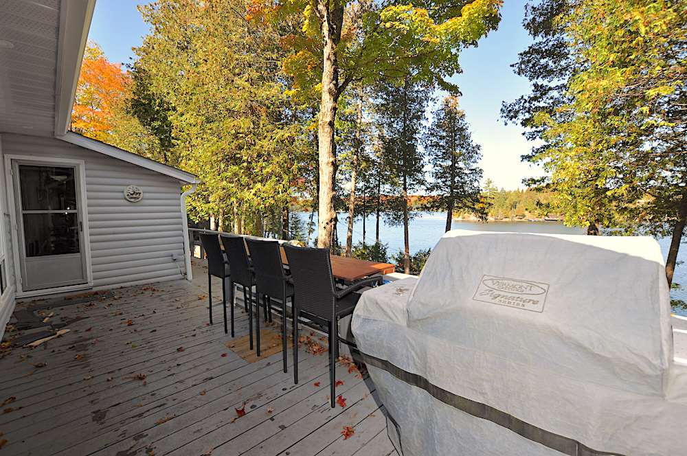 Chandos Lake Blue Heron Deck