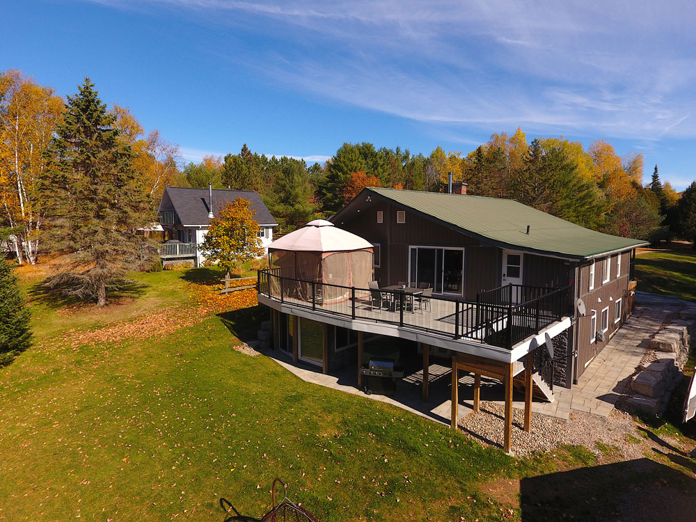 Bentley Lake Edgewater Escape  aerial-of-the-cottage-