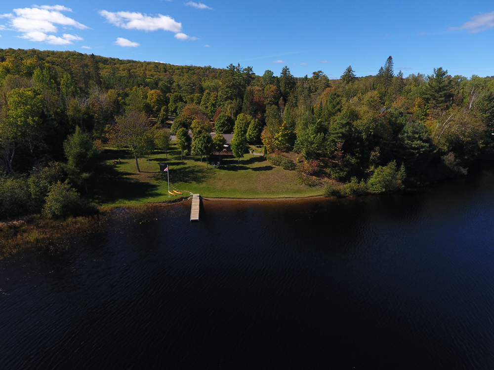 1a Aerial of the cottage