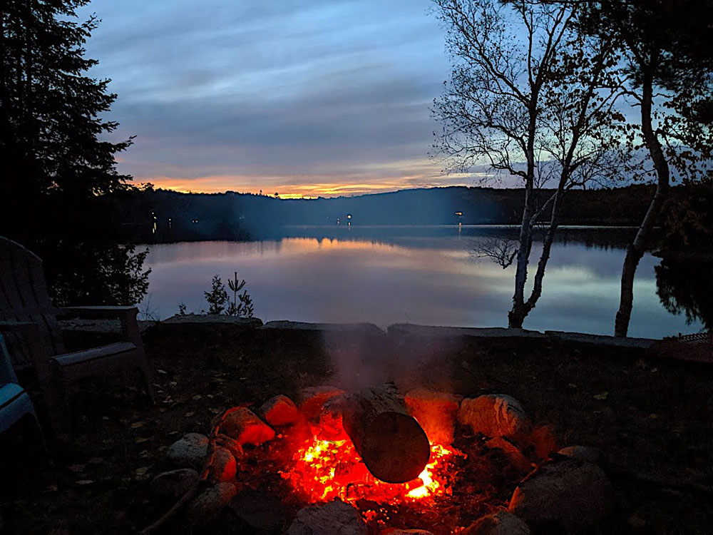 Haliburton Cottage - Gooderham Lake Into The Woods - Evening-Campfire