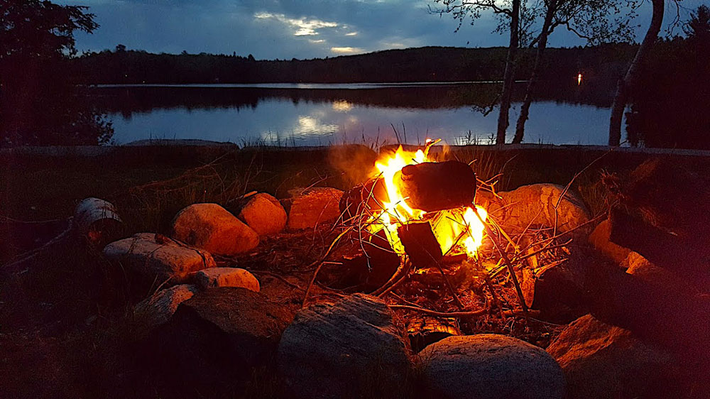 Haliburton Cottage - Gooderham Lake Into The Woods - Evening-Campfire-2