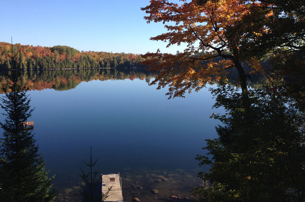 4-View from the deck to the dock in the Fall