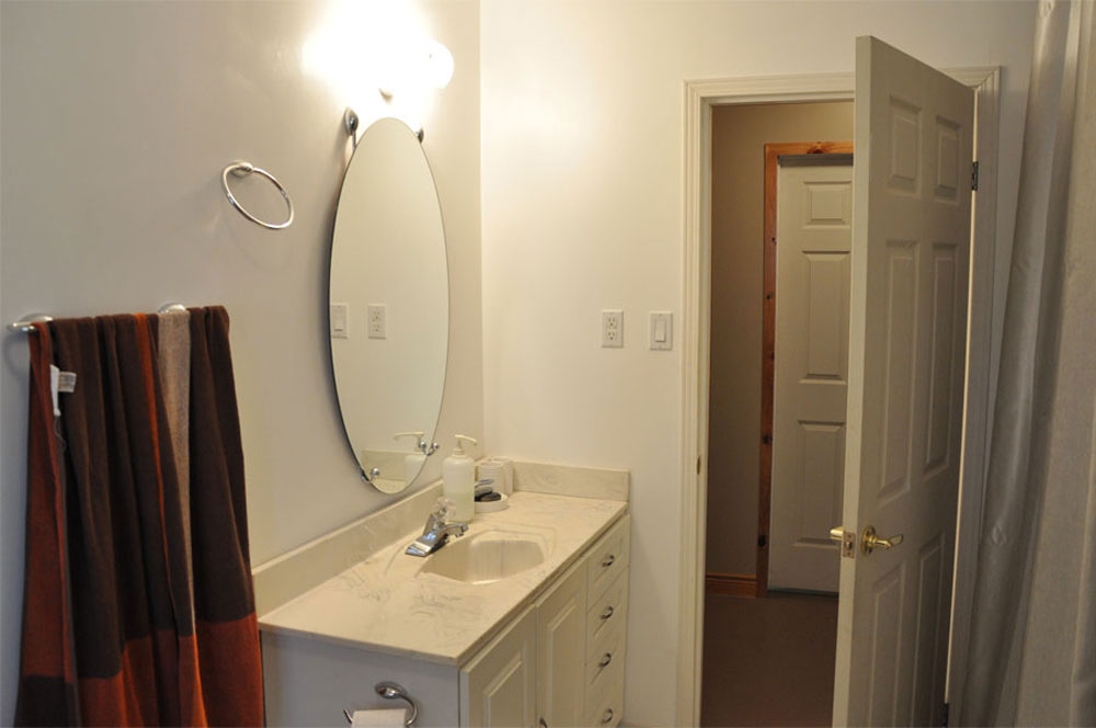 18-Lower level bath has a shower stall