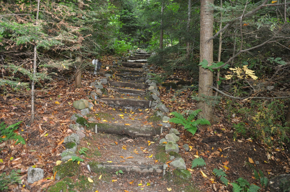 22-Steps to cottage from lake
