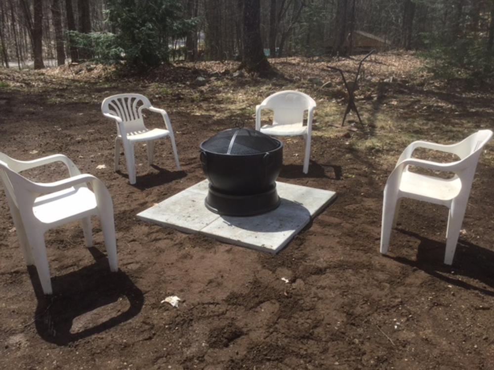 14 d Firepit area near parking
