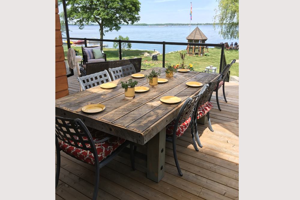 Kawartha Cottage - Pigeon Lake - Kotedza Lago - Outside Dining area