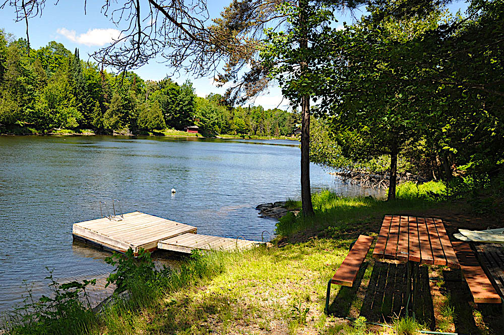4-Dock and picnic table