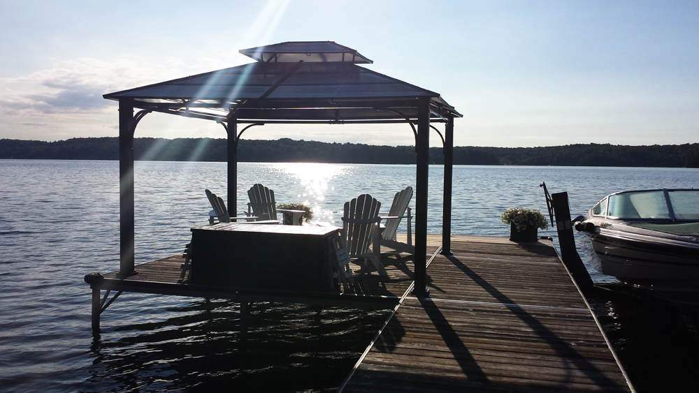 39 Gazebo on the dock