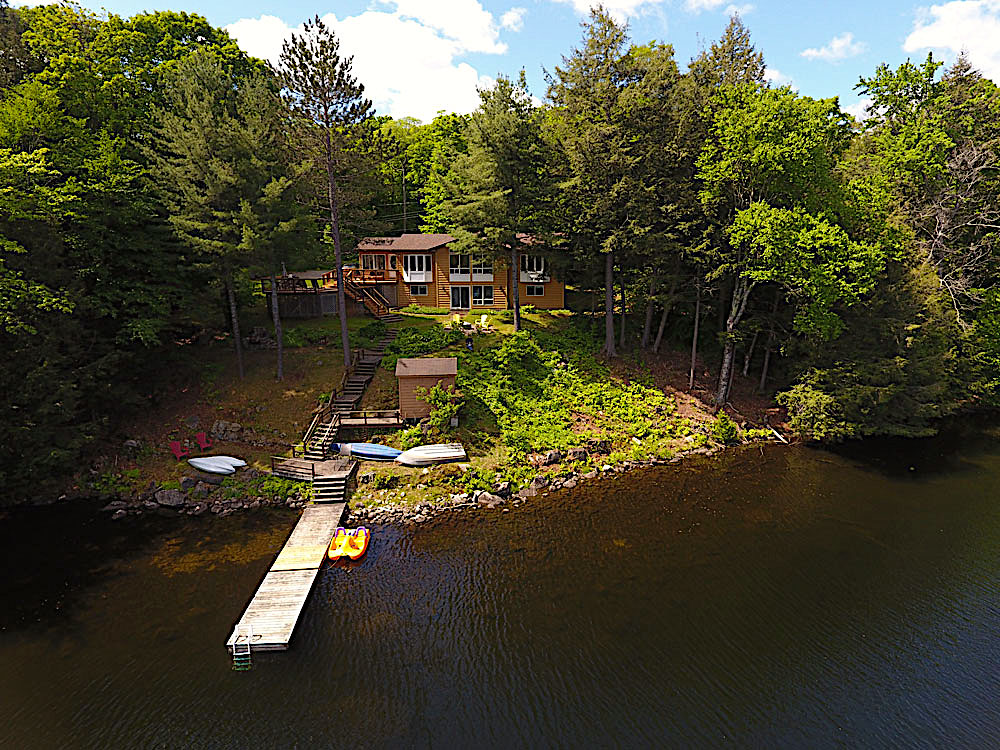 2 Aerial View of the cottage